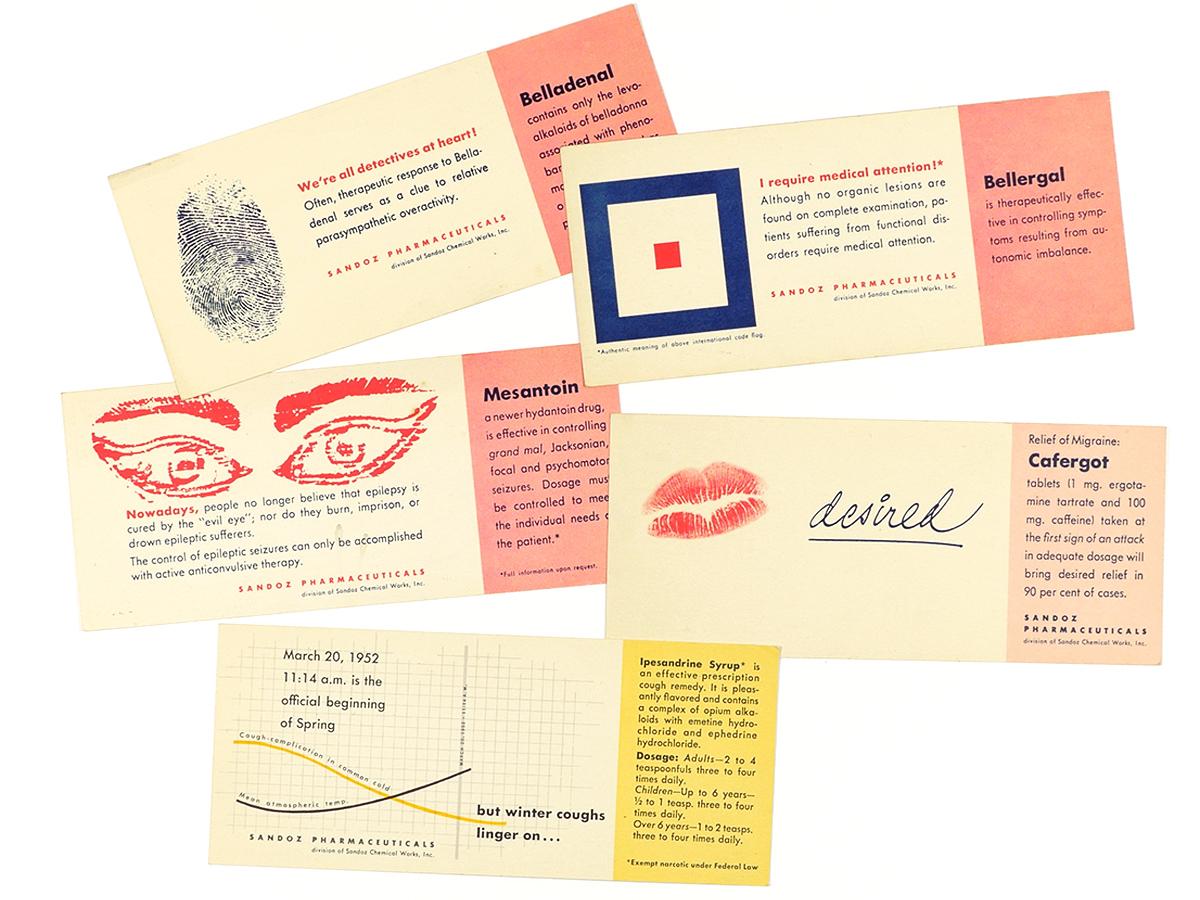Sandoz Pharmaceuticals Postcards 1950s