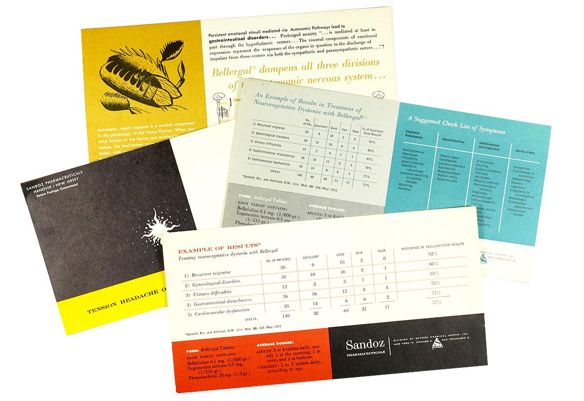 Sandoz Pharmaceuticals Postcards / 1950s