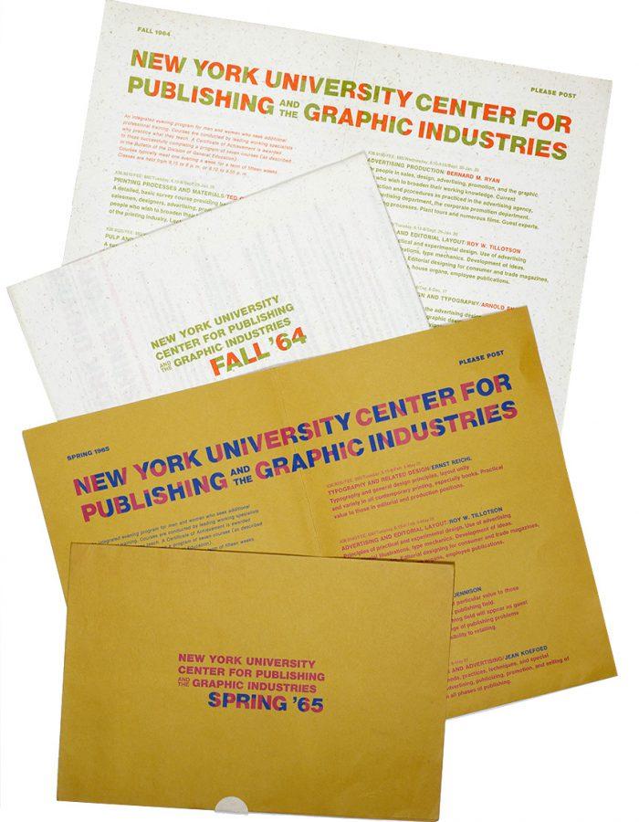 NYU Course Mailers 1964/1965