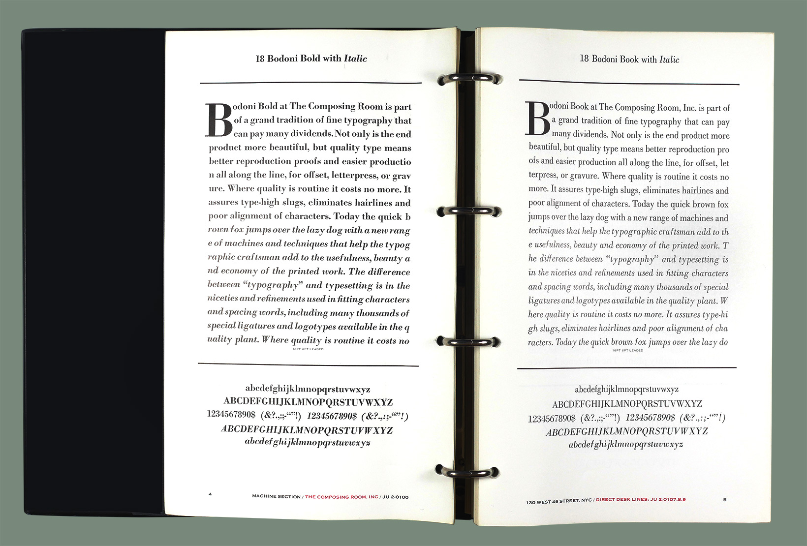 Bodoni Bold w Italic / Bodoni Book w Italic