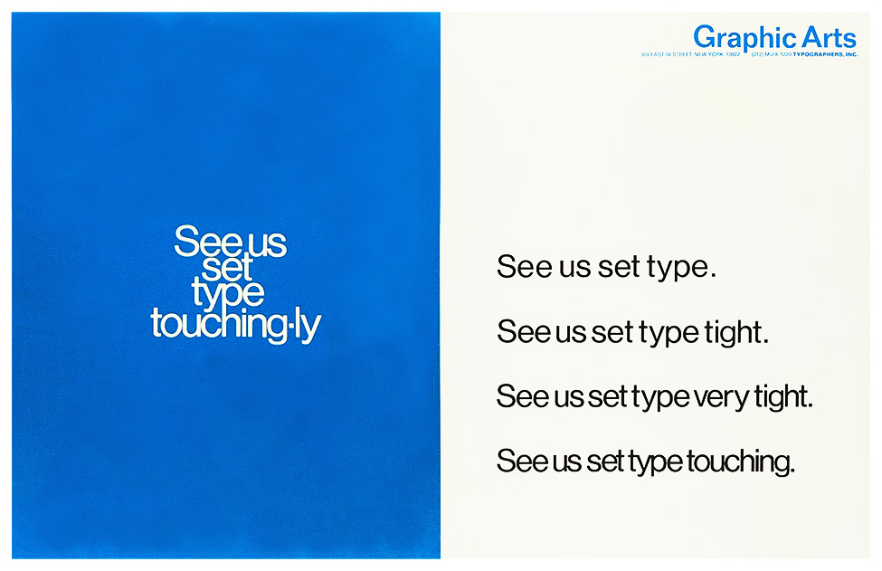 See Us Set Type / Graphic Arts Typographers 1967