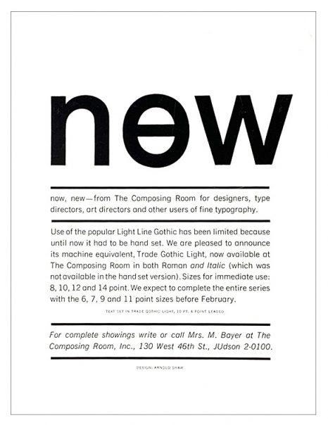 Now New / The Composing Room 1964