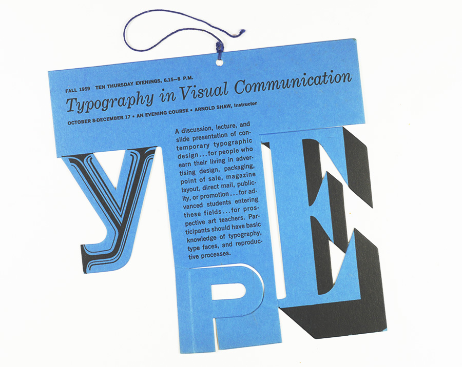 SVA Course Announcement, Fall 1959 / Hanging Mobile